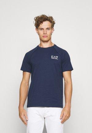 T-shirt con stampa - dark blue/white