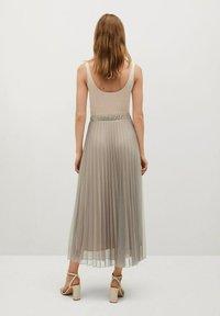 Mango - MIT METALLIC-EFFEKT - A-line skirt - beige - 3