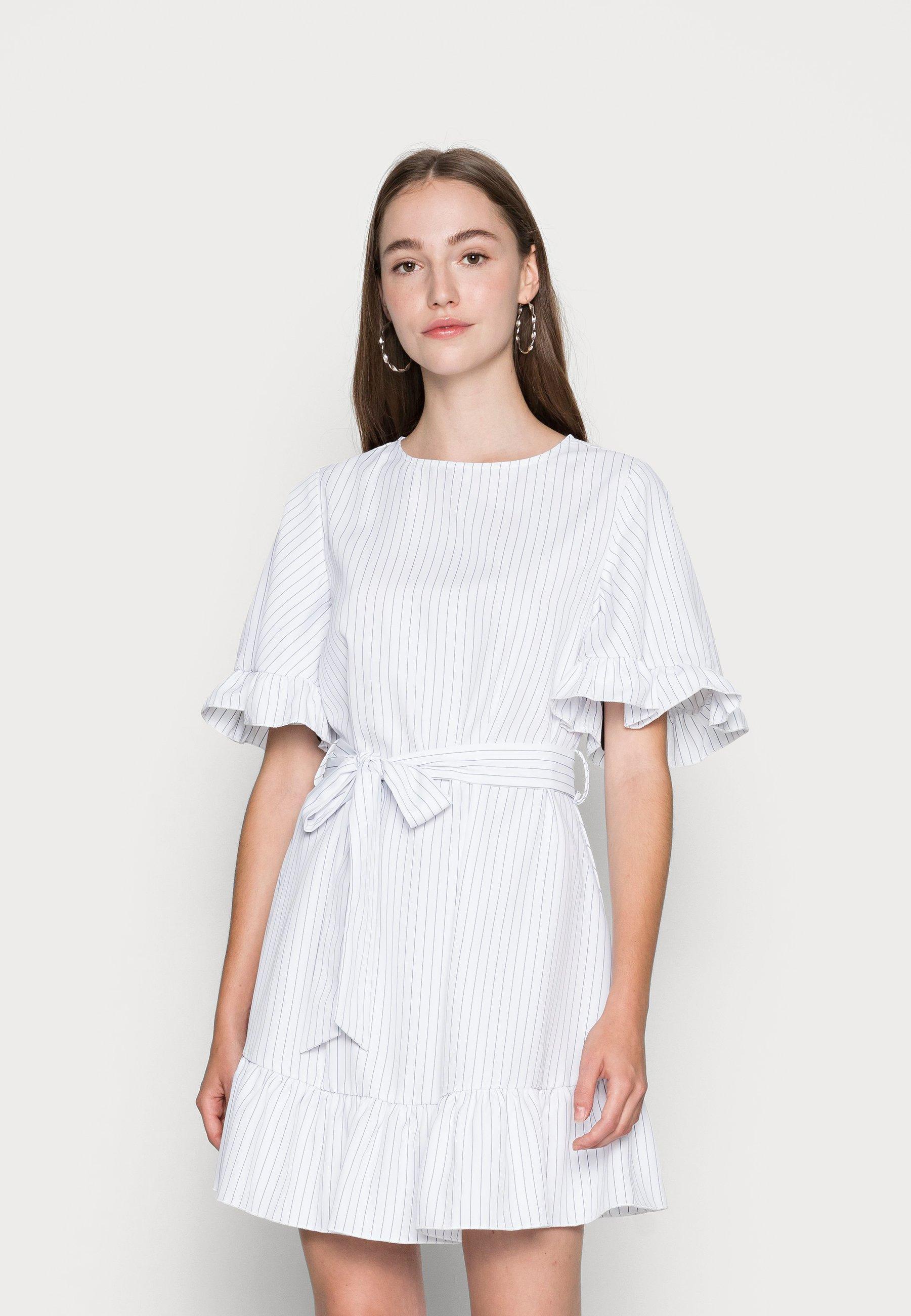Women FRILL HEM BELTED DRESS - Day dress