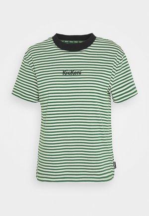 STRIPE BOY TEE - Print T-shirt - green