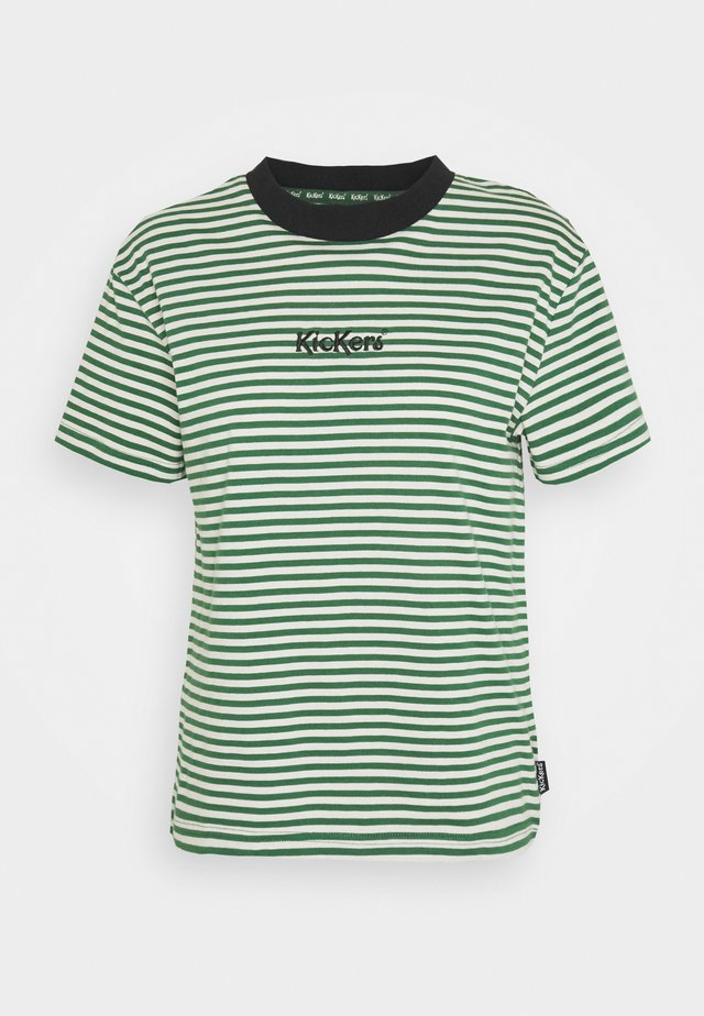 STRIPE BOY TEE - Print T-shirt - green