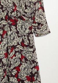 Mango - MOTIFS FLORAUX - Długa sukienka - noir - 6