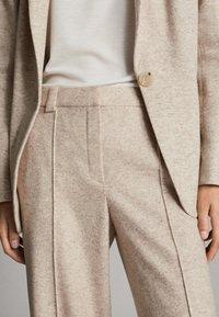 Massimo Dutti - MELIERTE  - Trousers - beige - 5