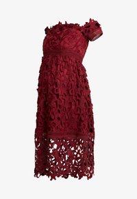 Chi Chi London Maternity - LIZANA DRESS - Robe d'été - burgundy - 3