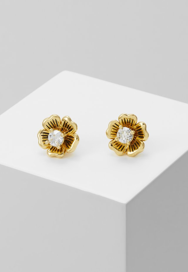 TEA ROSE STUD EARRINGS - Boucles d'oreilles - gold-coloured