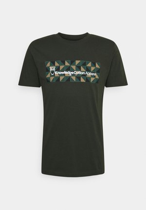 ALDER SQUARE OWL TEE - T-shirt con stampa - forrest night