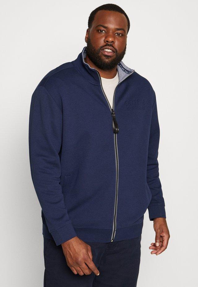 WITH LOGO TIPPING - veste en sweat zippée - black iris/blue