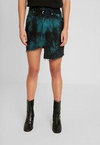 NGHTBRD - TIE DYE - Denimová sukně - electric green - 0