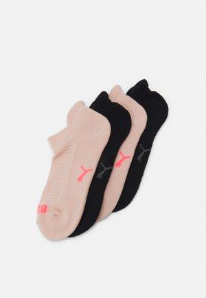 WOMEN SNEAKER - Calcetines - black/neon pink