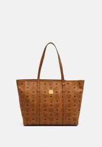 MCM - TONI E/W SHOPPER IN VISETOS - Tote bag - cognac - 1