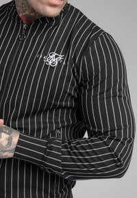 SIKSILK - DUAL STRIPE BOMBER - Bomberjacks - black/white - 4
