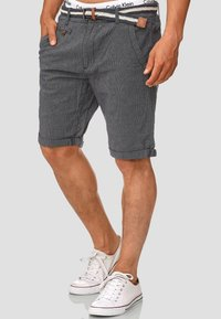 INDICODE JEANS - CASUAL FIT - Shorts - blue denim - 0
