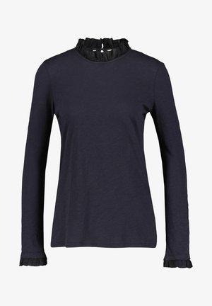 SLUB FRILL LONGSLEEVE - Long sleeved top - aqua
