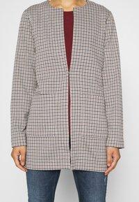 TOM TAILOR - LONG CHECK - Short coat - camel - 5