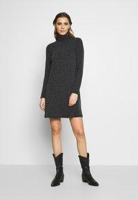 Even&Odd - Jumper dress - mottled grey - 1