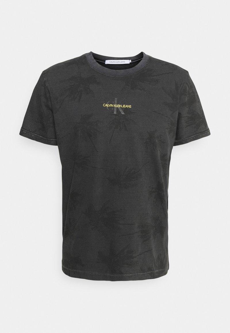 Calvin Klein Jeans - PALM GRAPHIC TEE UNISEX - T-shirt con stampa - black