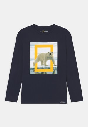BOY NATIONAL GEOGRAPHIC ANIMAL - Top s dlouhým rukávem - tapestry navy