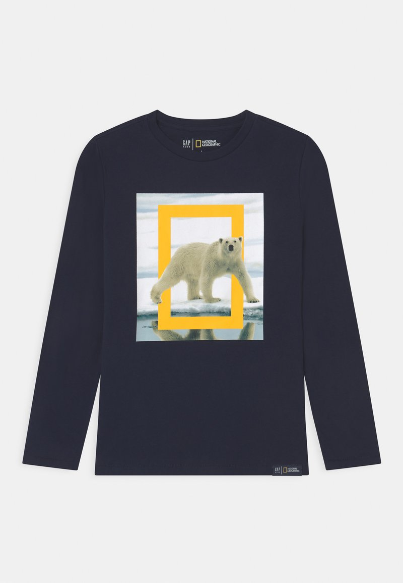 GAP - BOY NATIONAL GEOGRAPHIC ANIMAL - Long sleeved top - tapestry navy