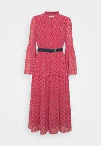MICHAEL Michael Kors - PRINTED BELTED SHIFT DRESS - Shirt dress - crimson - 7