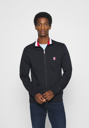 GLOBAL ZIP THROUGH - Zip-up hoodie - blue