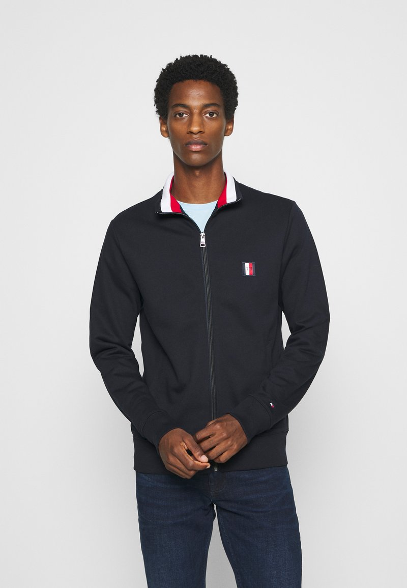 Tommy Hilfiger - GLOBAL ZIP THROUGH - veste en sweat zippée - blue