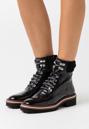 LADY - Bottines à lacets - black