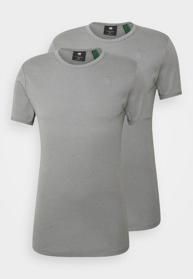 BASE 2 PACK  - Basic T-shirt - premium 1 by 1 o - charcoal