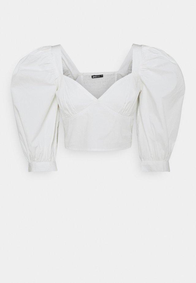 MADELEINE BLOUSE - T-shirt z nadrukiem - offwhite
