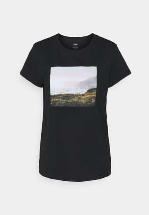 PERFECT TEE - T-shirt z nadrukiem - mineral black