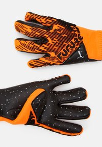 Puma - FUTURE GRIP HYBRID UNISEX - Goalkeeping gloves - shocking orange/black/white