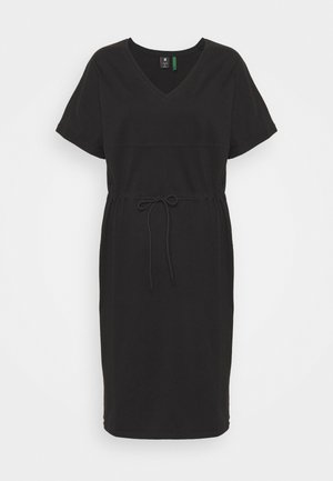 ADJUSTABLE WAIST DRESS - Jersey dress - black