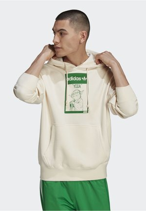 Sweat à capuche - beige, light green
