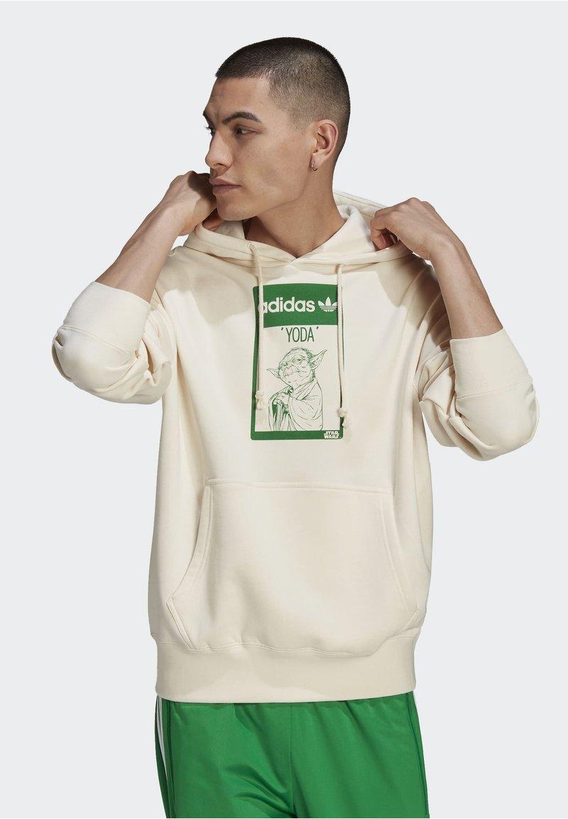 adidas Originals - Jersey con capucha - beige, light green