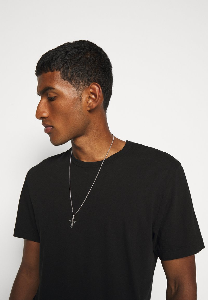 Northskull - EXCLUSIVE CROSS NECKLACE UNISEX - Halskette - silver-coloured
