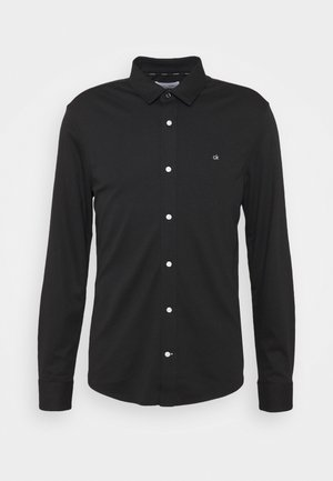 SLIM FIT  - Shirt - black