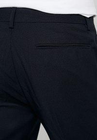 Topman - WEIST CHAIN - Trousers - navy - 3