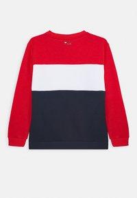 Fila - CARLOTTA BLOCKED CREW SHIRT - Sweatshirt - black iri/true red/right white - 1