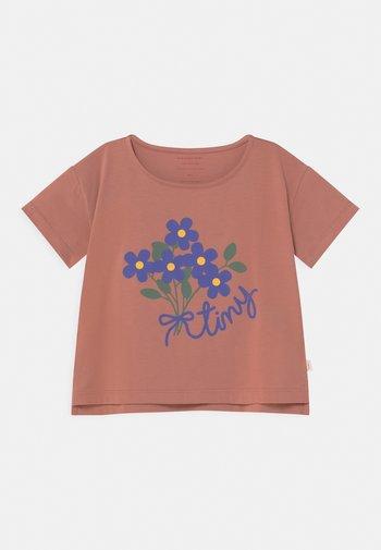 TINY BOUQUET CROP - T-Shirt print - earth