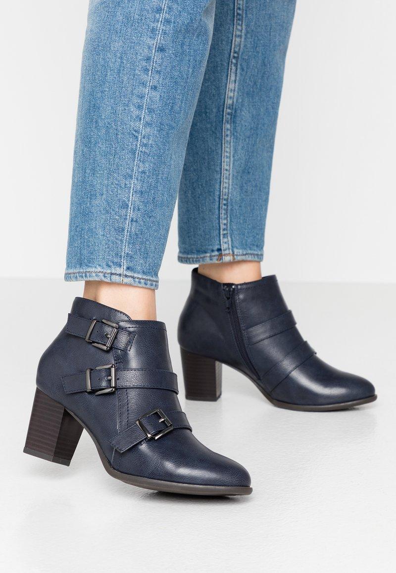 Wallis Wide Fit - WIDE FIT WREN - Ankle boot - navy