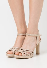 Anna Field - LEATHER - High heeled sandals - gold - 0