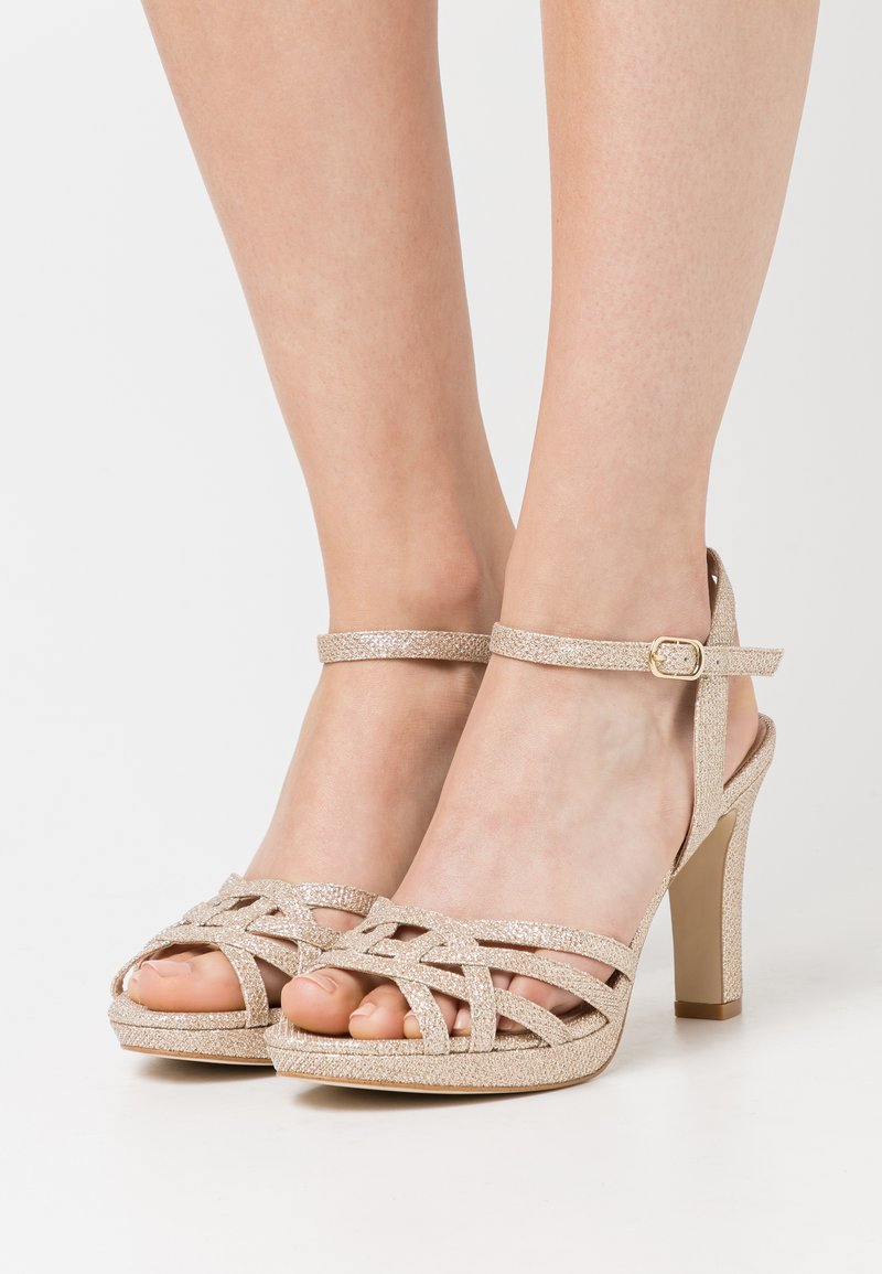 Anna Field - LEATHER - High heeled sandals - gold