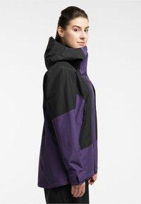 Haglöfs - LUMI JACKET - Ski jacket - purple rain/true black - 2
