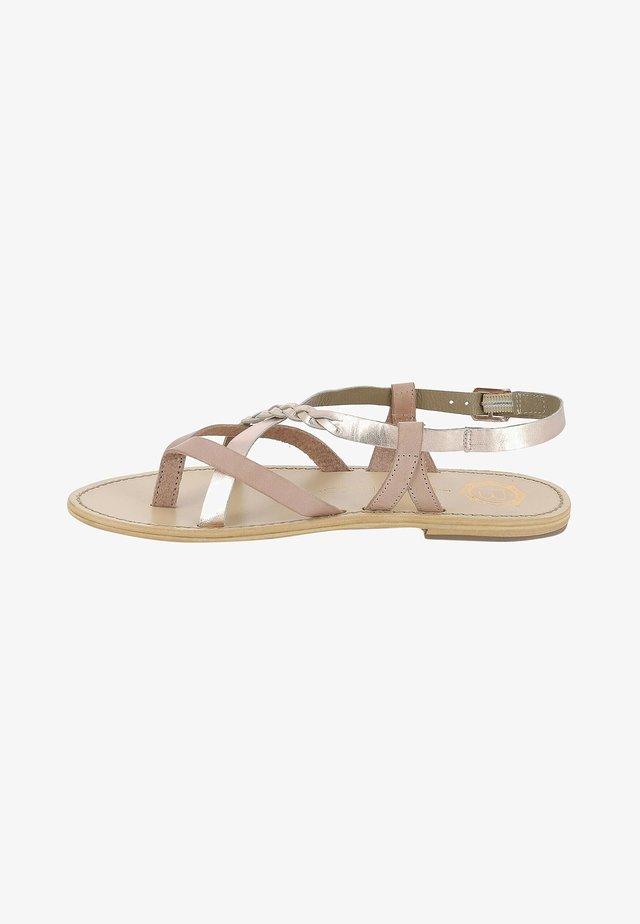 CYPERUS  - T-bar sandals - light pink