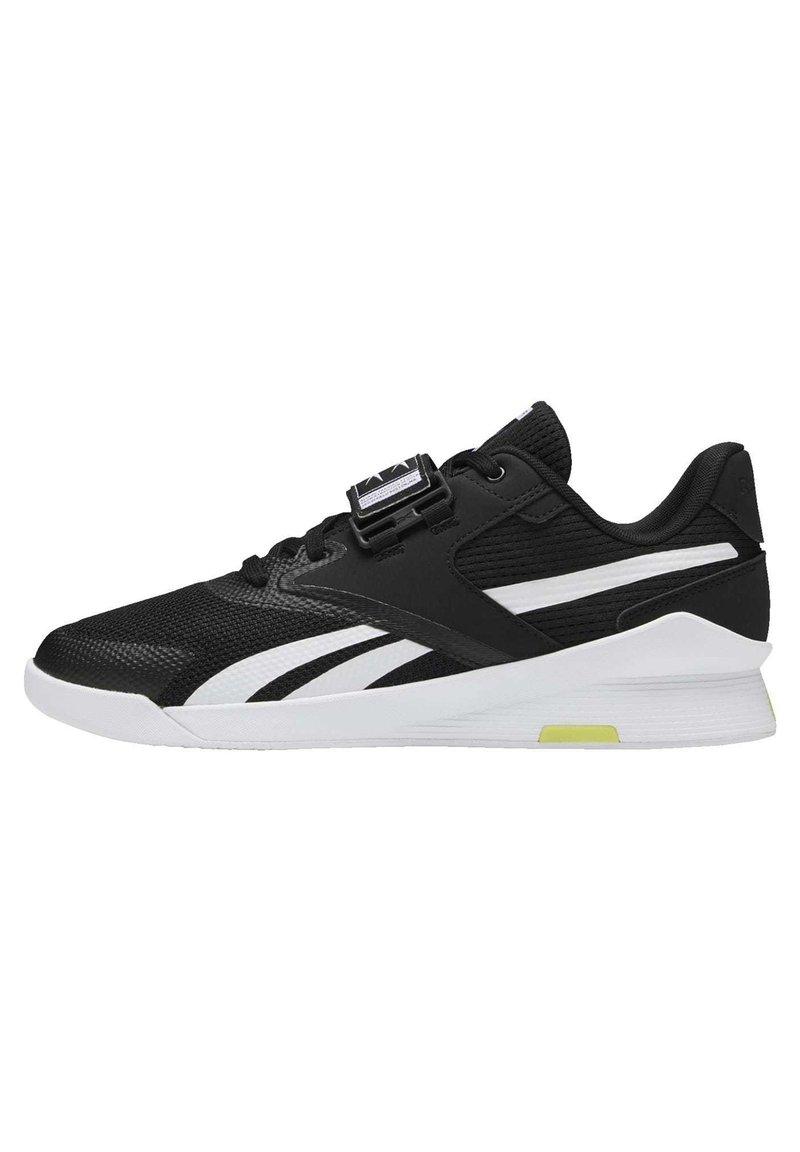 Reebok - LIFTER PR II - Sports shoes - black/white/chartr