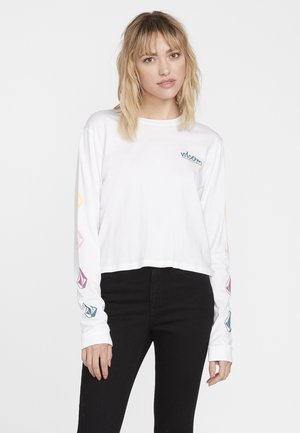 STONES LS - Long sleeved top - white