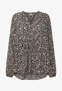 b.young - BYISOLE V NECK BLOUSE - Bluser - black combi - 5