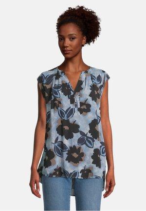 Basic T-shirt - dunkelblau/blau