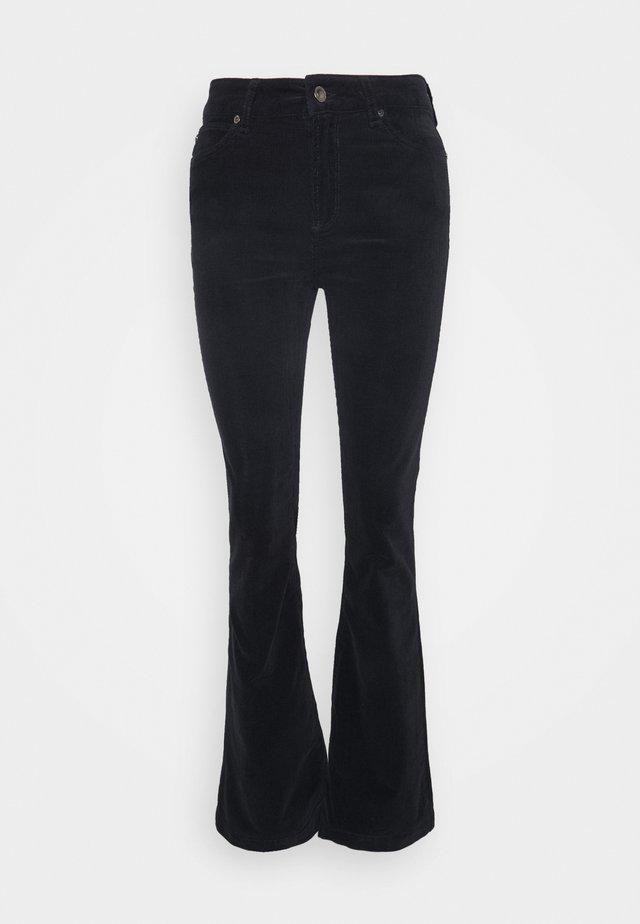 TARA FLARE BABY - Široké džíny - black