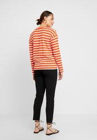 Blendshe - BSOLINE - Long sleeved top - orange/white - 2