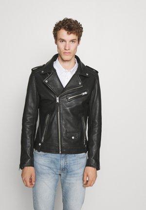 IRON - Leather jacket - black